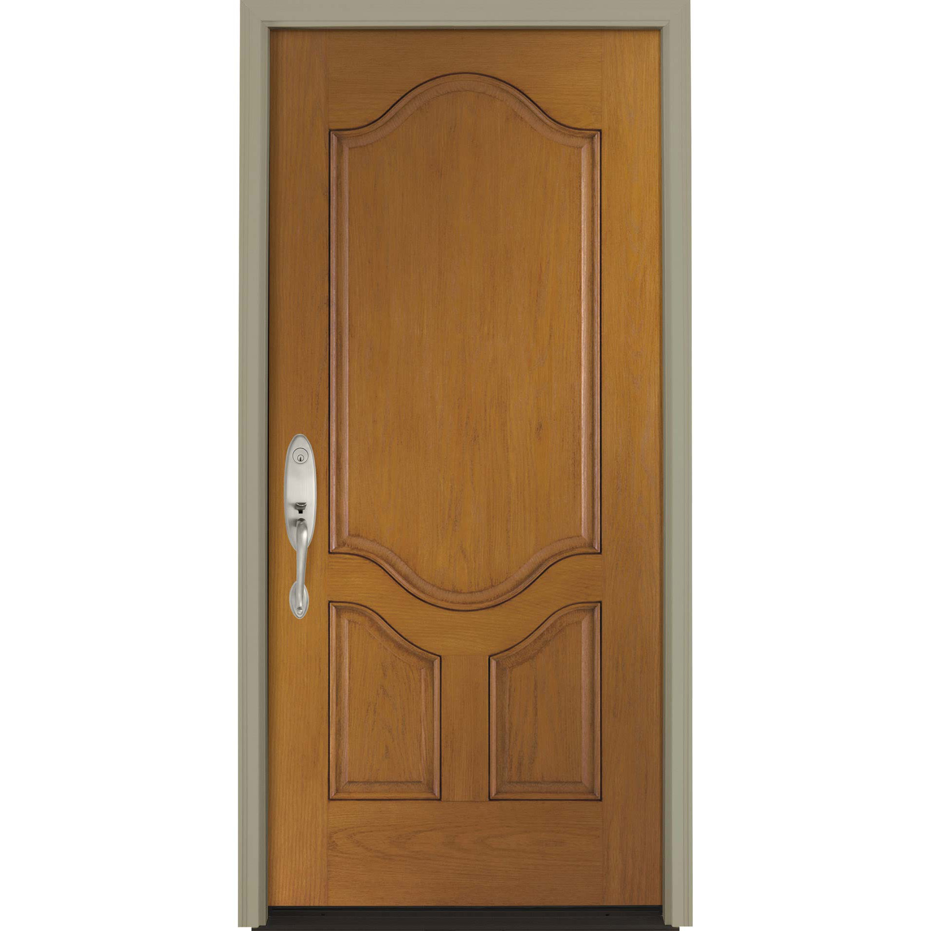 Pella 3 Panel Deluxe Entry Door Solid Panel